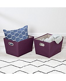 Set of Two Medium Storage Bins