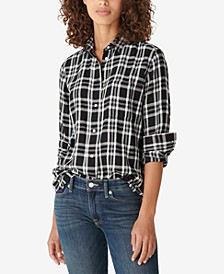 Relaxed Flannel Plaid Shirt
