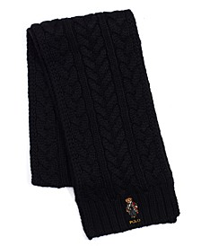 Men's Cable-Knit Bear Scarf