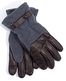 폴로 랄프로렌 Polo Ralph Lauren Mens Active Hybrid Gloves,Dark Brown