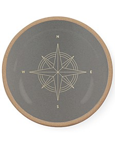 Studio Compass Mini Round Stoneware Catch All Tray