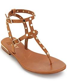 Vin Studded Flat Sandals