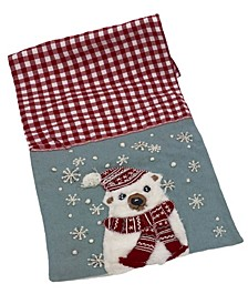 "White Bear Applique Gingham and Felt Runner, 16"" X 72"""