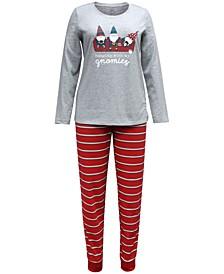 Matching Women's Gnomies Family Pajama Set, Created for Macy's