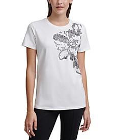 Floral Embellished T-Shirt