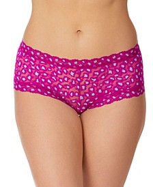 Women's Cross Dyed Leopard Boy Short