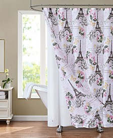"Sunset Park Europa 70"" x 72"" Shower Curtain and Liner Set, 14 Piece"