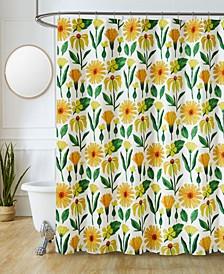"""Sutton Park Sunflower Printed 70"""" x 72"""" Shower Curtain, 13 Piece"""