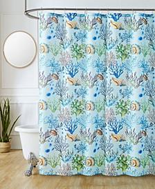 "Sutton Park Bahama Printed 70"" x 72"" Shower Curtain, 13 Piece"