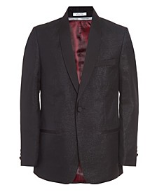 Big Boys Metallic Shawl Suit Jacket