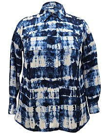 INC Plus Size Button-Up Blouse, Created for Macy's