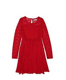 Big Girls Lace Long Sleeve Dress