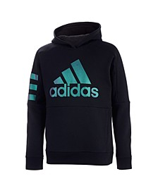 Big Boys 3 Stripes Pullover Hoodie