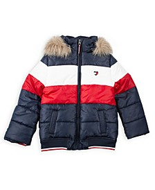 Big Girl Colorblock Puffer Jacket