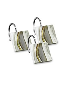 Shell Rummel Sand Stone Shower Hooks Set