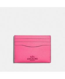 Crossgrain Leather Flat Card Case