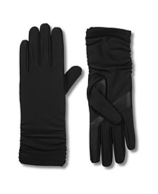 Women's Lined Water Repellent Roached Touch Screen Gloves