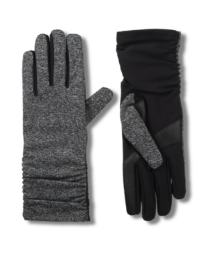Women's Line Water Repellant Rouched Touch Screen Glove