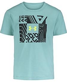 Little Boys Wordmark Square Short Sleeves T-shirt