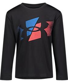 Little Boys Slashed Symbol Long Sleeves T-shirt