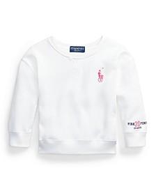 Little Girls Pink Pony Fleece Sweatshirt