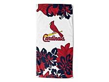"""St. Louis Cardinals 30x60 """"Flower Power"""" Beach Towel"""