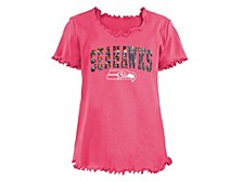 Seattle Seahawks Big Girls Flip Sequin T-Shirt