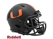 Miami Hurricanes Speed Eclipse Alt Mini Helmet