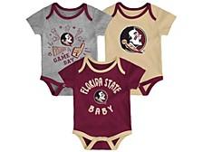 Newborn Girls Florida State Seminoles 3piece Creeper Set