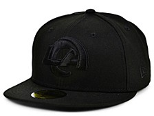 Los Angeles Rams Black on Black 59FIFTY Cap