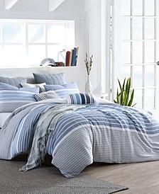 Delightful Cordelia Prewashed Yarn-Dyed Cotton Gauze Stripe Duvet Cover Set Collection