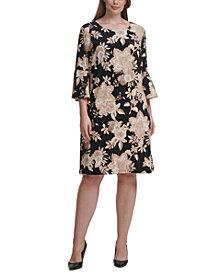 Tommy Hilfiger Plus Size Floral-Print Fit & Flare Dress