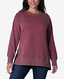 Juniors' Tunic Sweatshirt