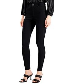 INC Petite High-Waisted Ponté-Knit Curve Creator Pants, Created for Macy's