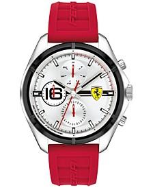 Men's Speedracer Red Silicone Strap Watch 46mm