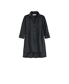 Women's Plus Size High Low Button Front Shirt