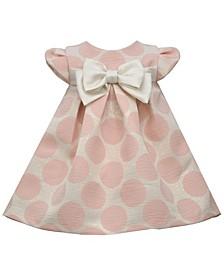 Toddler Girls Jacquard Dot Pleated Float Dress