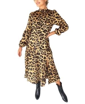 Women's Animal Printed Midi Dress