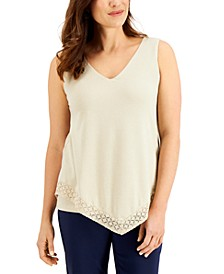 Lace-Trimmed Tank Top, Created for Macy's