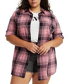 Trendy Plus Size Cotton Jicama Tunic