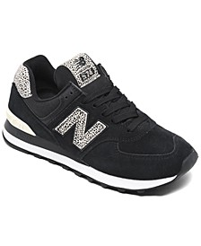Women's 574 Leopard Casual Sneakers from Finish Line