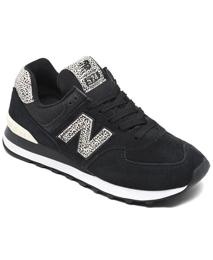 New Balance Women's 574 Leopard Casual Sneakers from Finish Line ...