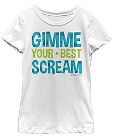 Big Girls Monsters Inc. or Monsters University Best Scream Short Sleeve T-shirt