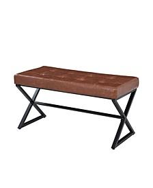 Xander Upholstered X Leg Bench