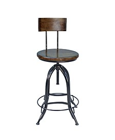Ryland Adjustable Stool with Back