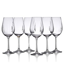 Water Glasses with Straight Cut Design, Set of 6