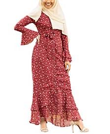 Women's Daisy Ruffle Button Down Maxi Dress