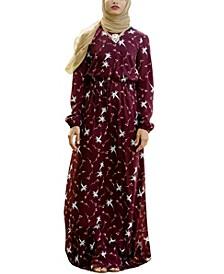 Women's Floral Drawstring Maxi Dress