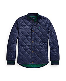 Big Boys Water-Resistant Quilted Baseball Jacket