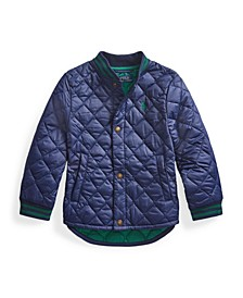 Toddler Boys Water-Resistant Quilted Baseball Jacket